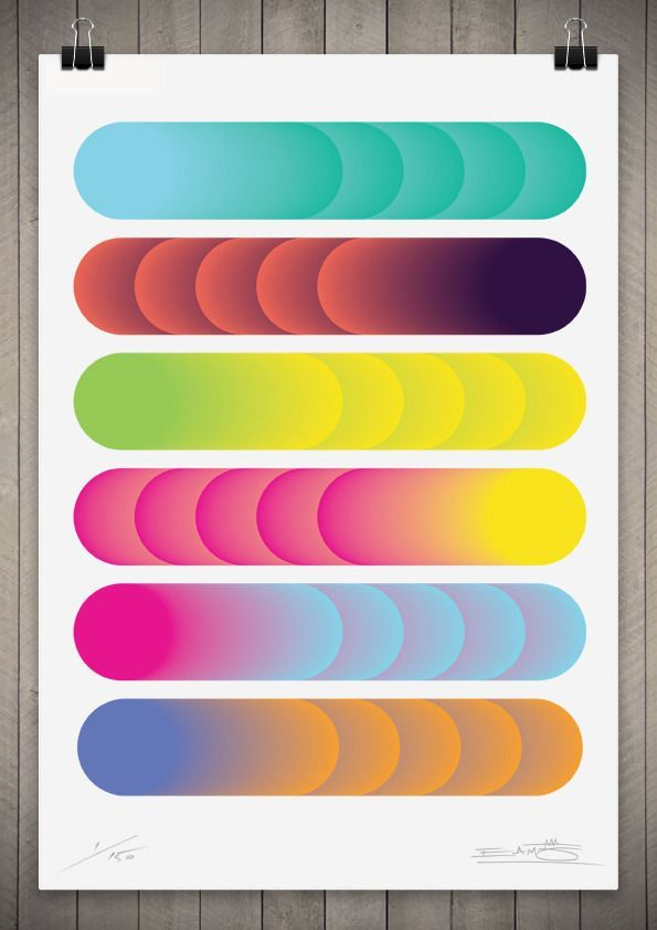 Gradient / Image of Cylindrical Colour Series 1 111cm x 76cm