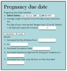 Are you pregnant or looking to get pregnant? Want to plan a certain month for your birth? This due date calculator will help you determine all that information fast and easy below.