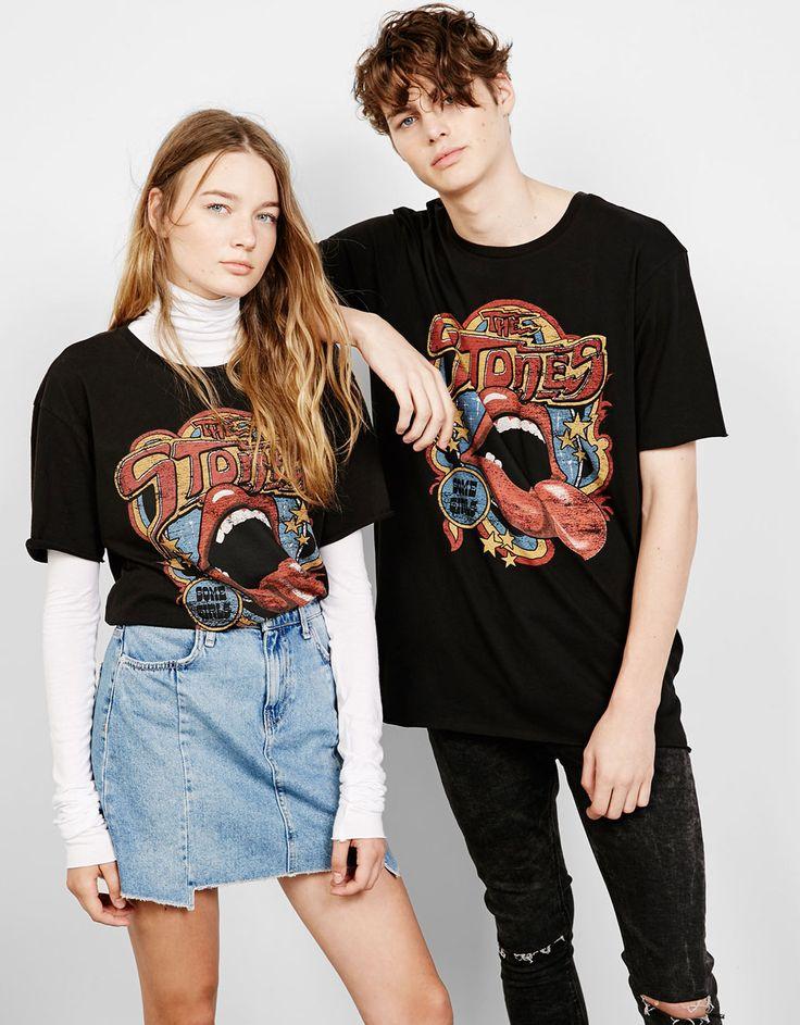 'Guns/Stones' top - T- Shirts - Bershka Israel