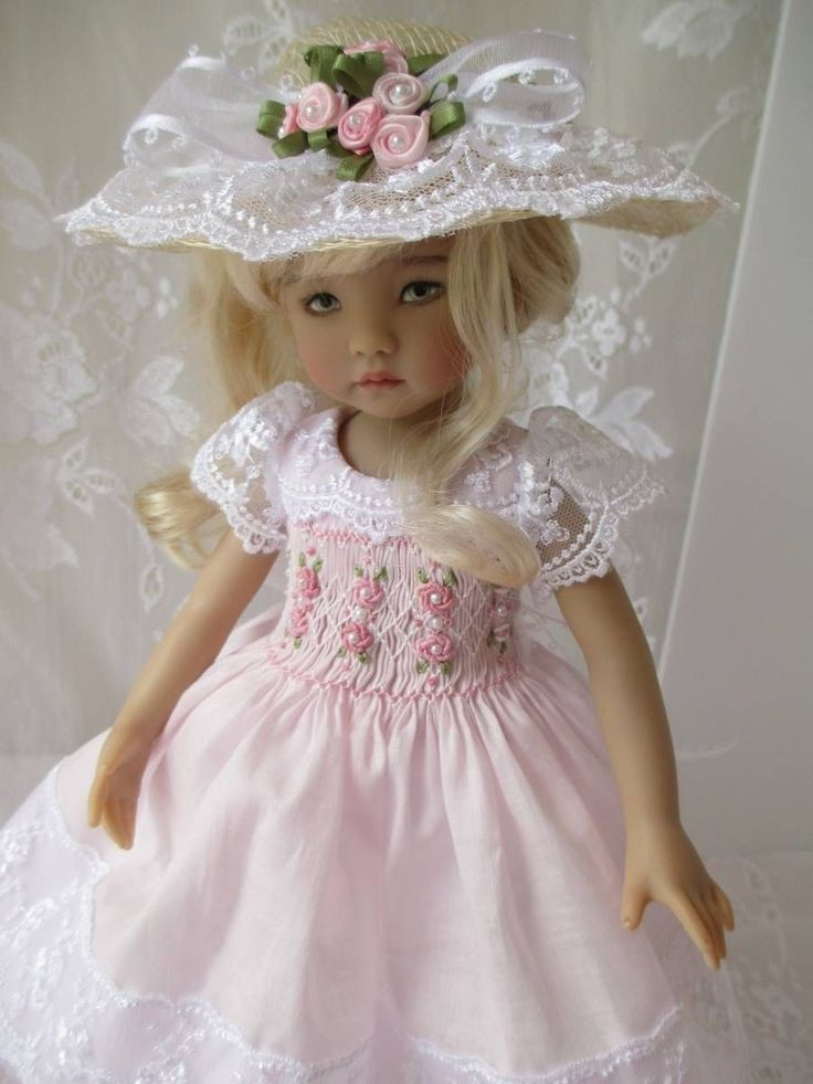 """Little Darling Dianna Effner Doll Outfit Smocked 13"""" Decidedly Romantic 