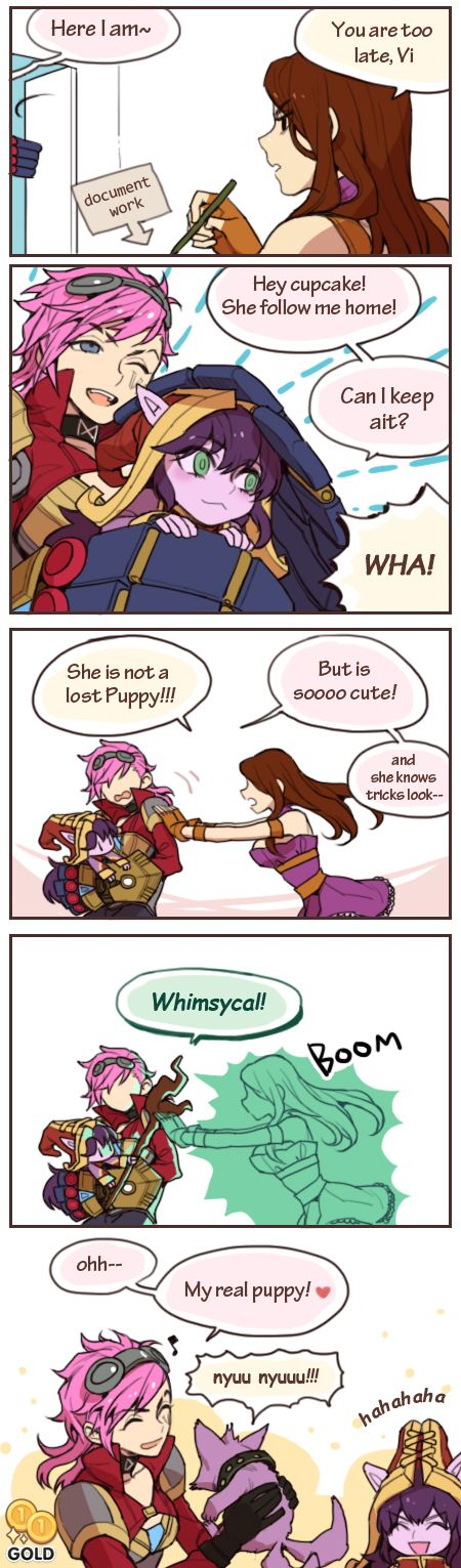 Comic - Vi wants Lulu... Caitlyn isn't impressed.