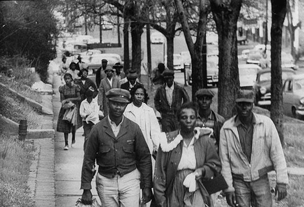 On Dec. 5, 1955 the Montgomery Bus Boycott began. It is one of the most powerful stories of organizing and social change in U.S. history. Out of Montgomery's 50,000 African American residents, 30,000-40,000 participated in the boycott. For 381 days, they walked or bicycled or car-pooled, depriving the bus company of a substantial portion of its revenue.