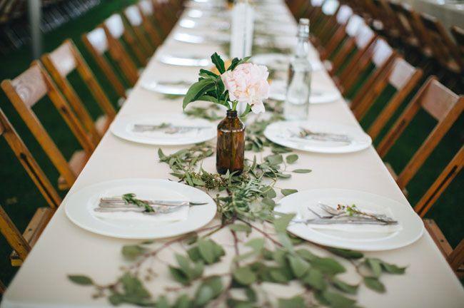 eucalyptus runner - greens on the table - super simple
