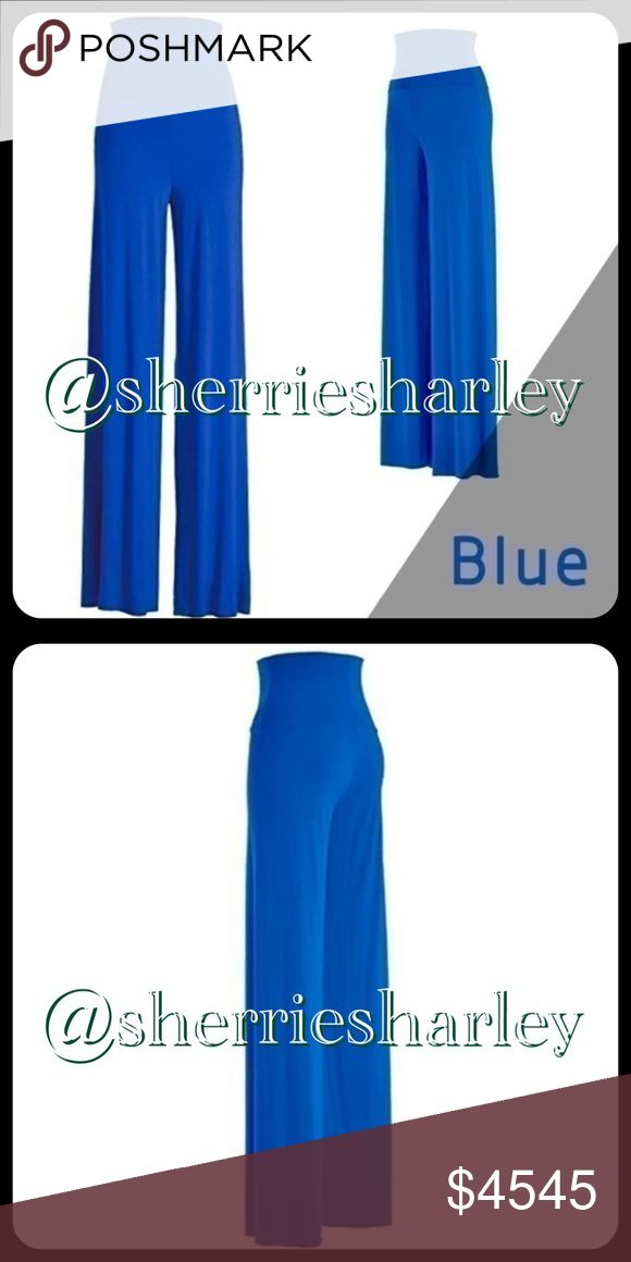 🆕Coming Soon👖Royal Blue Palazzo Pant Plus Size Coming Soon 🆕 Plus Size Royal Blue Palazzo Pants 👖 feature Yoga style fold down waist and wide leg. This item is NEW, ships from maker without tag.  Please like this listing to be updated upon its arrival. Women's size 3XL. Pants Wide Leg