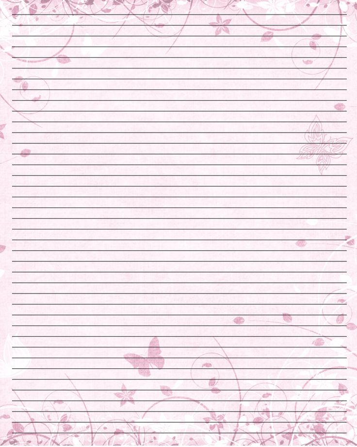 Butterfly Print Paper Printable Writing Paper (44) by \u003dLady