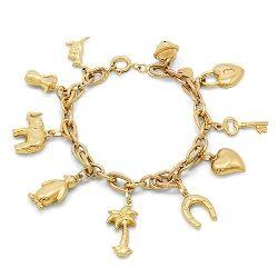18ct Gold Charm Bracelet