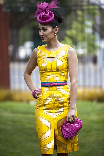 Liberty Purple with Golden Yellow -  fantastic combination (I would exclude the blue belt) - Racing Fashion Australia
