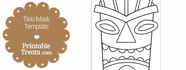printable tiki mask template  u2014 printable treats com