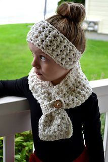Crochet ear warmer and scarf- great stitch! Pattern for sale here