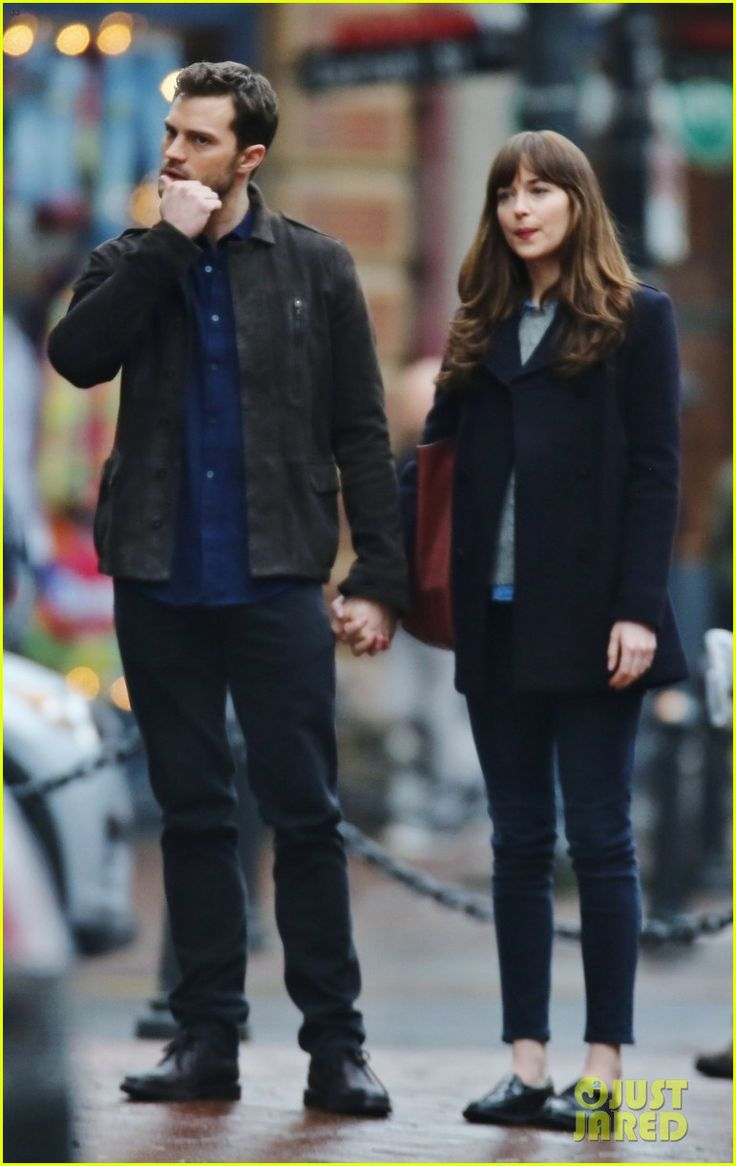 Dakota Johnson & Jamie Dornan Hold Hands on 'Fifty Shades Darker' Set!