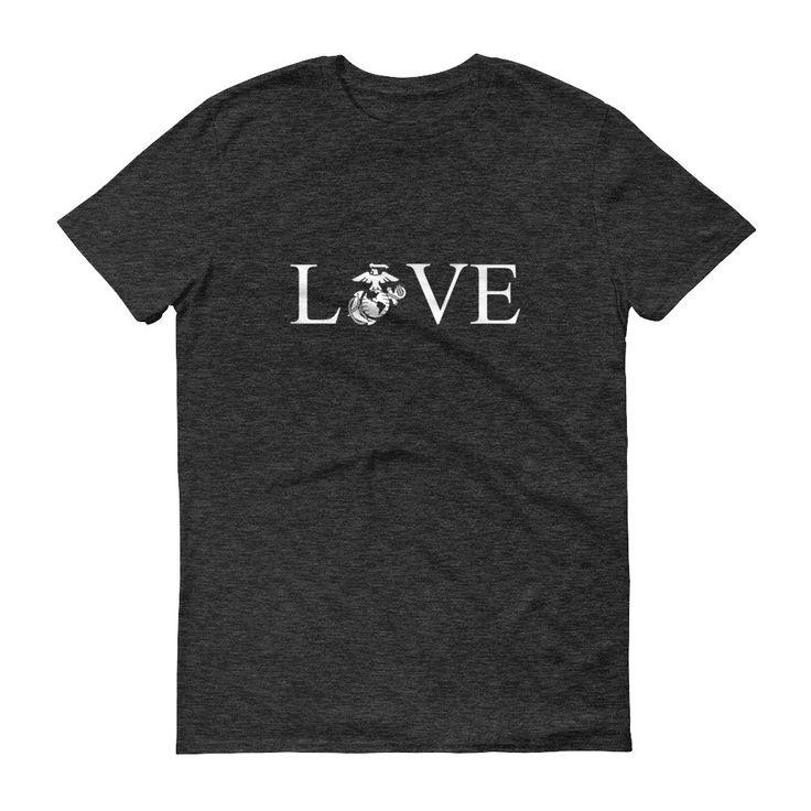 United States Marine Corps USMC LOVE Short sleeve t-shirt
