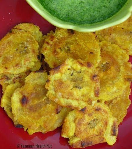 Yasmeen Health Nut: Baked Tostones with Mojo Verde(Green Dipping Sauce ...