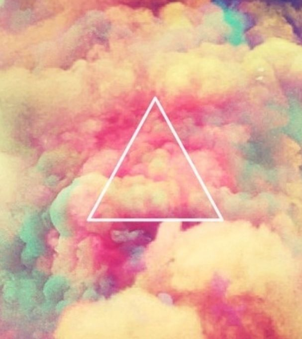 Triangle on Clouds... nice background...   creativeness ...
