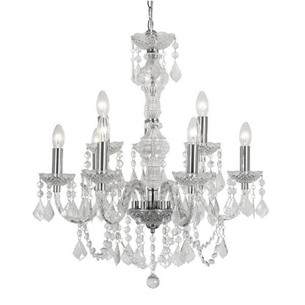 Oaks 7801/6+3 Marie Therese Clear Acrylic 9 Lamp 2 Tier Traditional Pendant Light. The Oaks Light 7801/6+3 is part of the Pendant Lighting range. Oaks 7801/6+3.