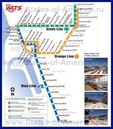 Карта метро Сан-Диего