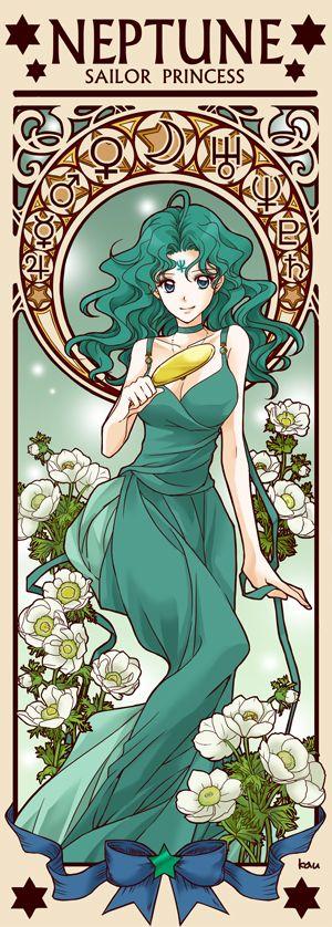 Princess Sailor Neptune by Tsuki-kioku. Sailor Moon