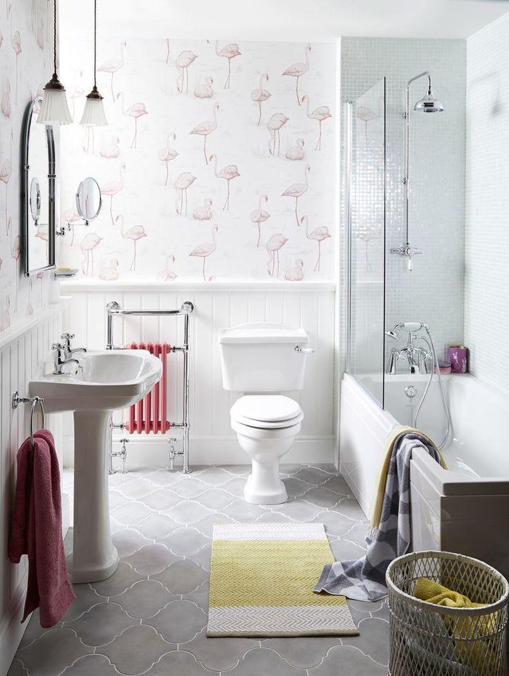 48 Best Bathroom Wallpaper Images On Pinterest