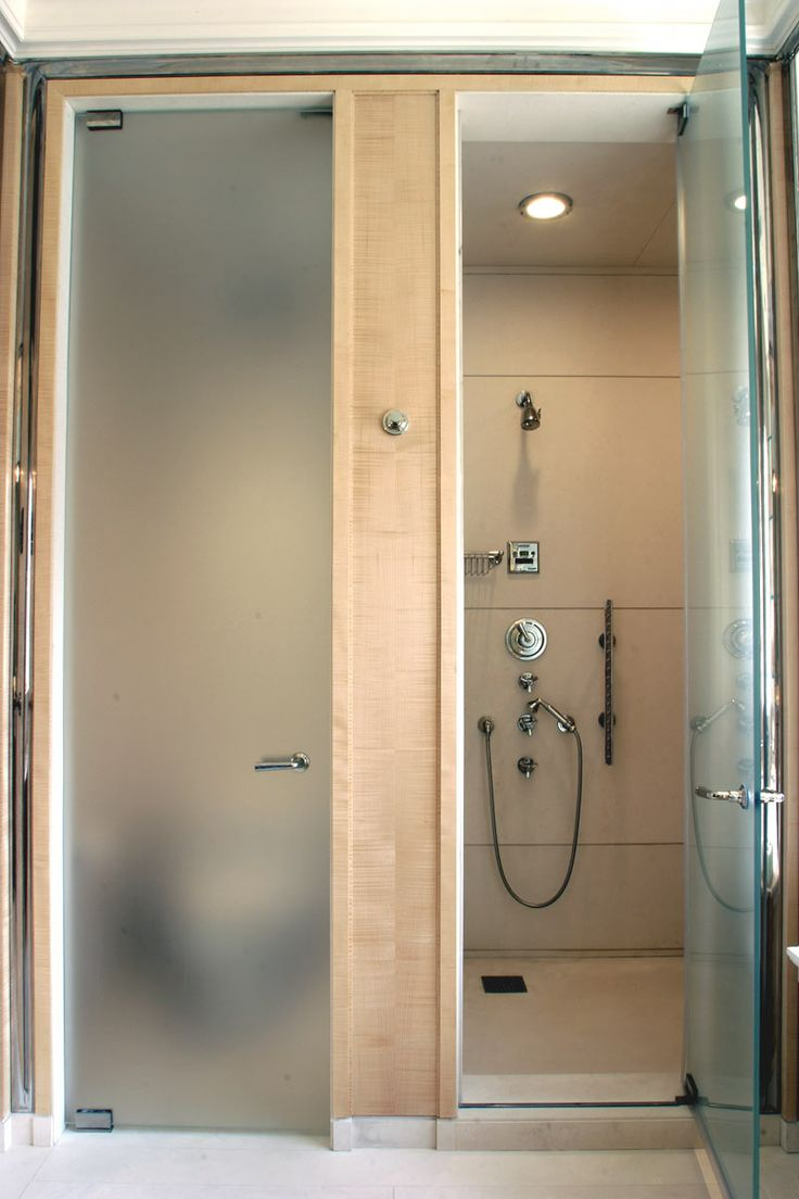 53 best images about spa bathroom on pinterest small - Bathroom vanity with frosted glass doors ...