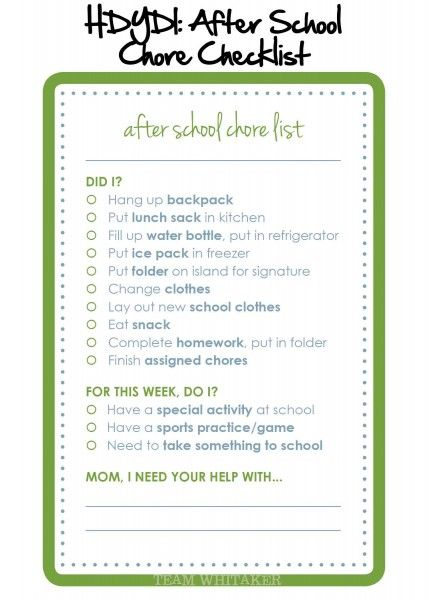 17 Best images about School on Pinterest Kids checklist, First - daily checklist