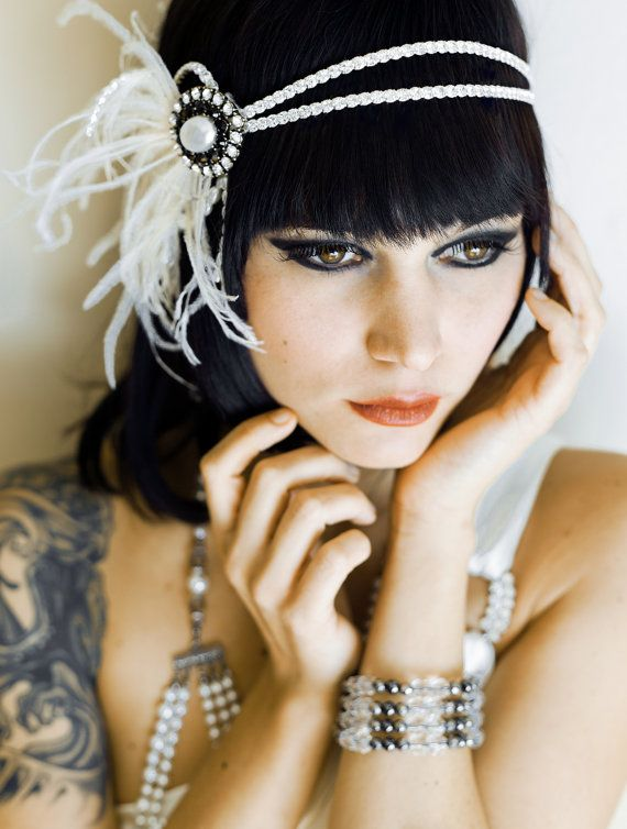 Flapper Headband Vintage Inspired 1920's 1930's Pearl by danani, $145.00