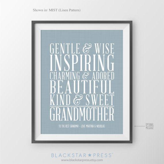 Gift for Grandmother Gift @Etsy $20