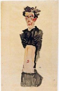 Egon Schiele. Autorretrato con el ombligo al aire. #Museo Albertina #Viena #Austria