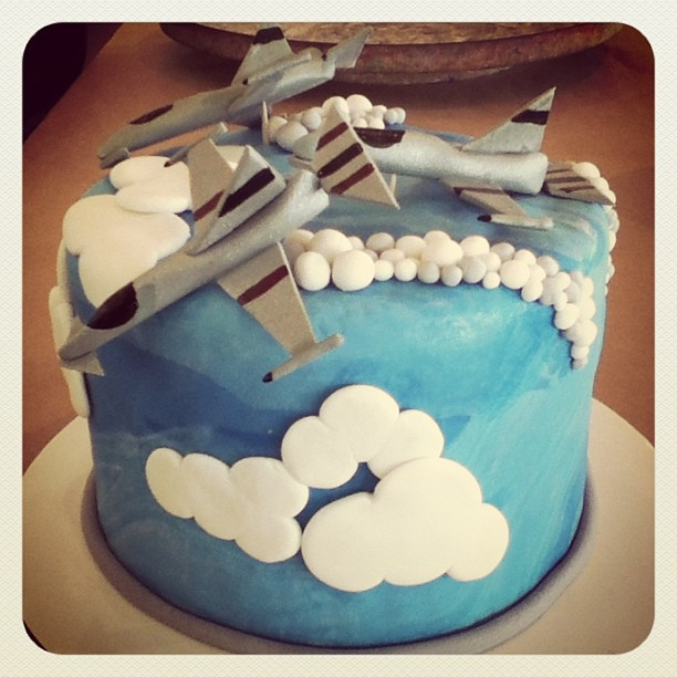 Next going away party, why not decorate a jet plane cake?