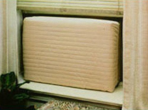 While window air conditioners really ought to be removed during cold winter months, these #indoor air conditioner covers will help to prevent drafts through most...