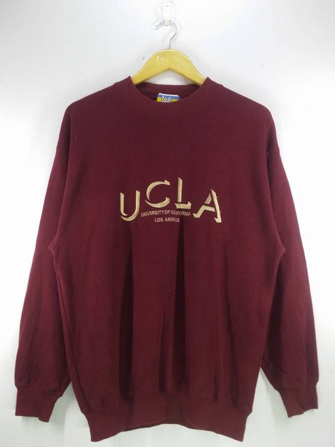 408ba7f5b9 Vintage Vintage 90 s UCLA University of California Los Angeles Spell Out  Embroidery Sweatshirt Jumper Pullover Size Large Size US L   EU 52-54   3