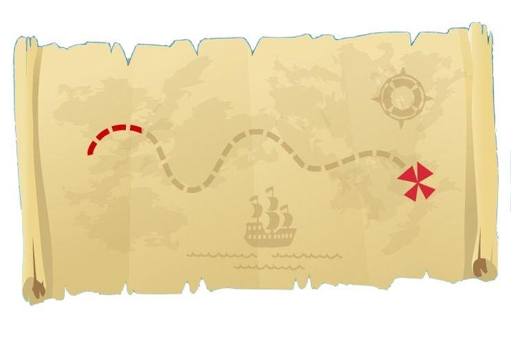 Jake and Neverland Pirate Map