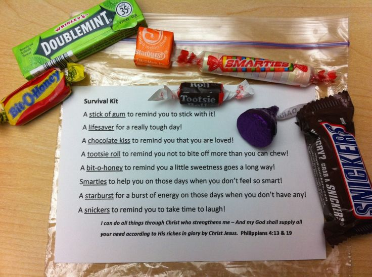 candy survival kit sayings | just b.CAUSE