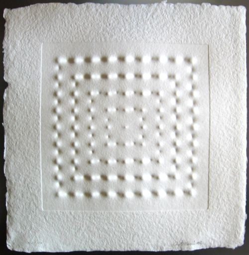 Enrico Castellani, cartone estroflesso 30x30 cm, Tiratura di soli XX pezzi, 2002