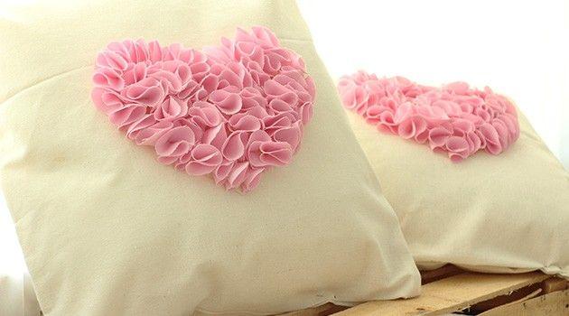 DIY cómo hacer almohadas decorativas estilo ruffle