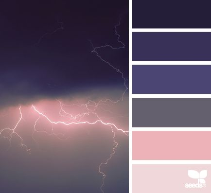Purple, gray and pink