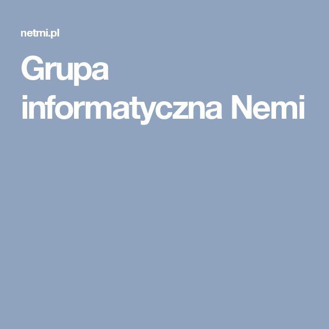 Grupa informatyczna Nemi