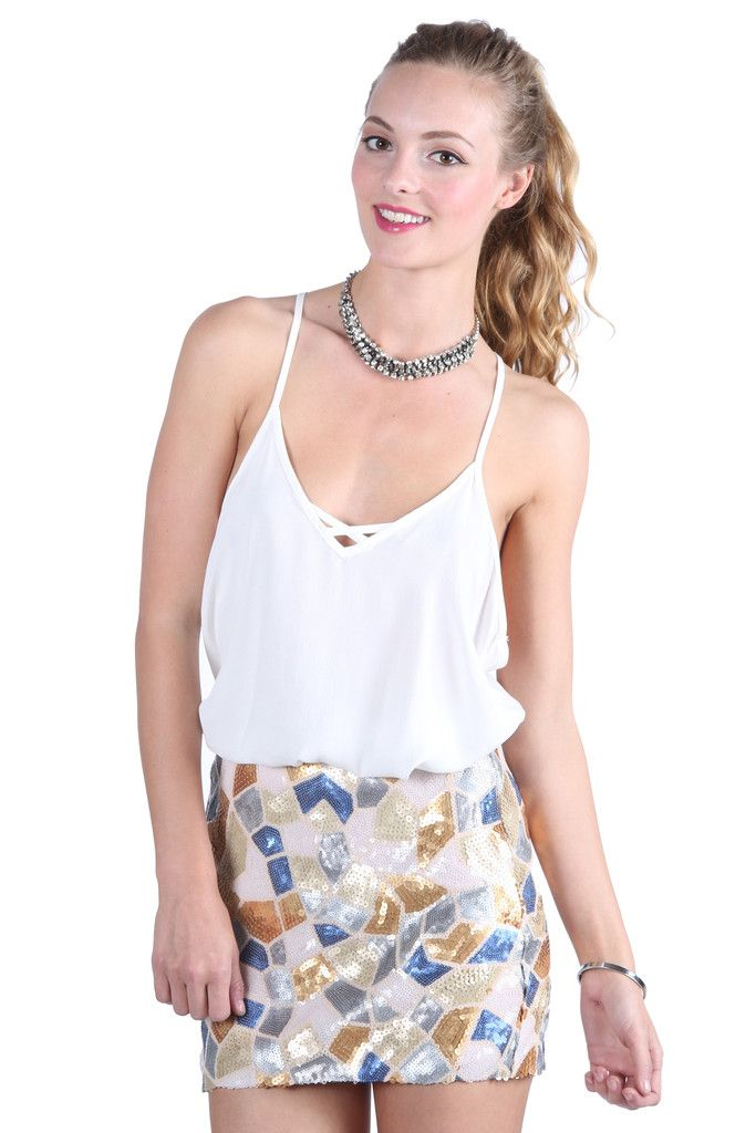 Sequin Savvy Skirt