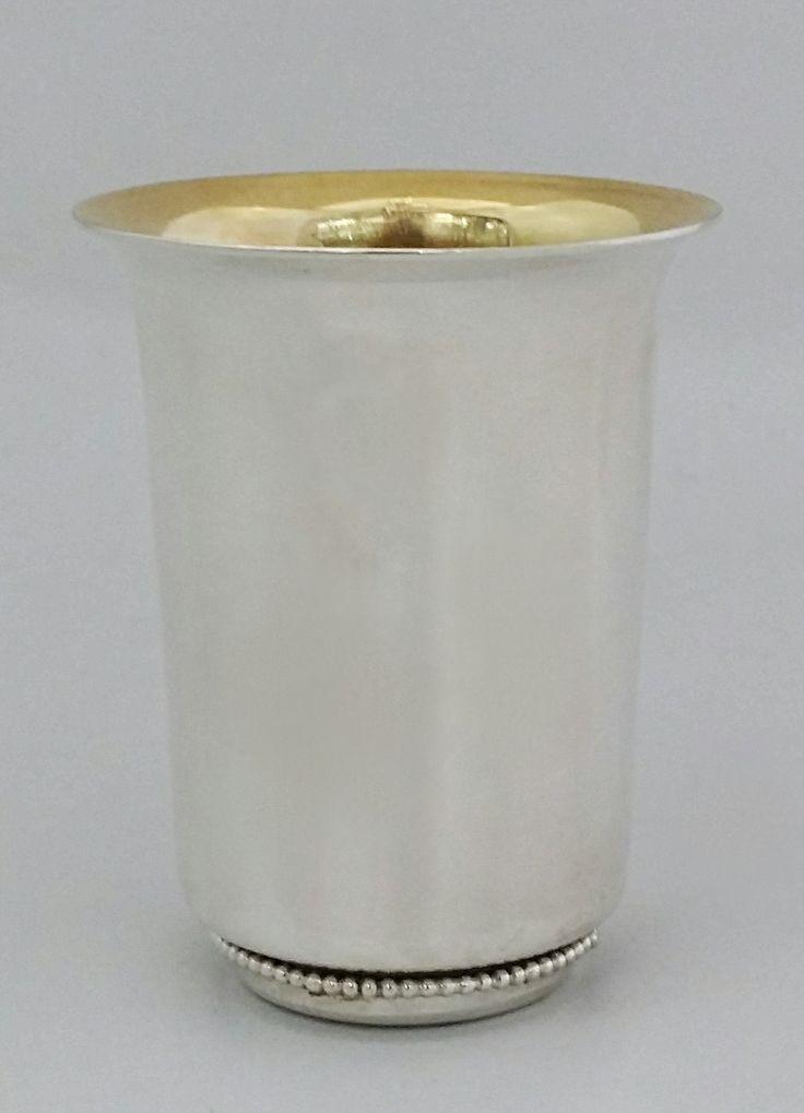 "sterling silver 925 ""Pearls"" kiddush cup by STUBSILVERWARE on Etsy"
