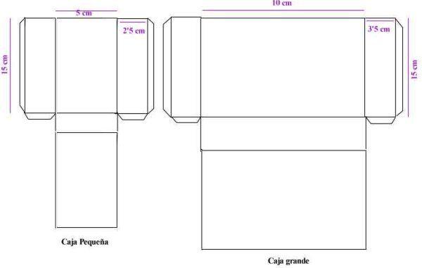 medidas para hacer una caja de carton con tapa - Buscar con Google ...