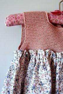 Las coletas de Marisina: Vestido con canesú de punto