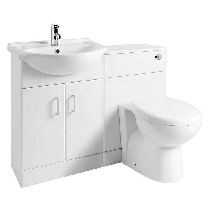 Sienna Milo White Gloss Combination Vanity Unit Large
