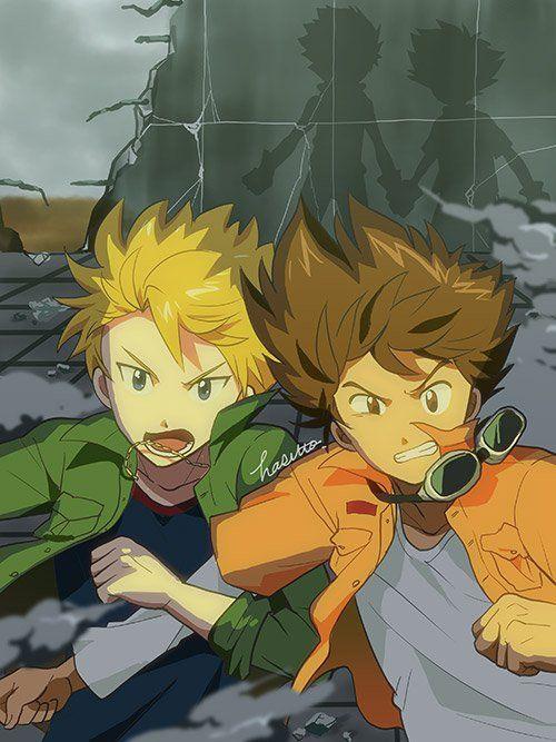 Digimon tri. Saikai Taichi Yagami y Yamato Ishida