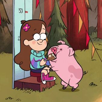 Waddles and Mabel!
