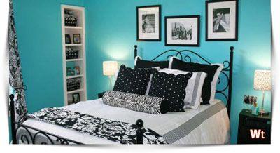 Lichtblauwe Muren In Kleine Slaapkamer
