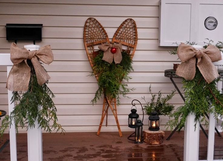 ideas for decorating wooden snowshoes for christmas - Google Search