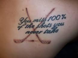 Crossed Hockey Sticks Tattoos