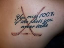 Crossed Hockey Sticks Tattoos