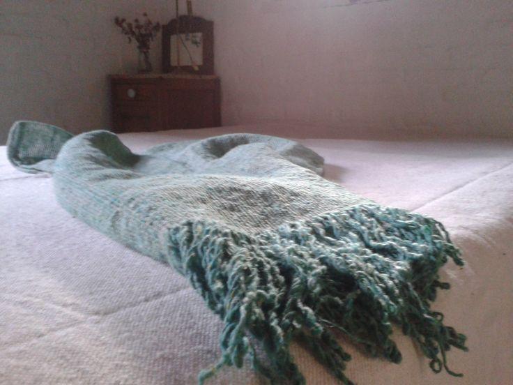 Pie de cama, tejido en telares propios, lana y algodón, 2 medidas diferentes!