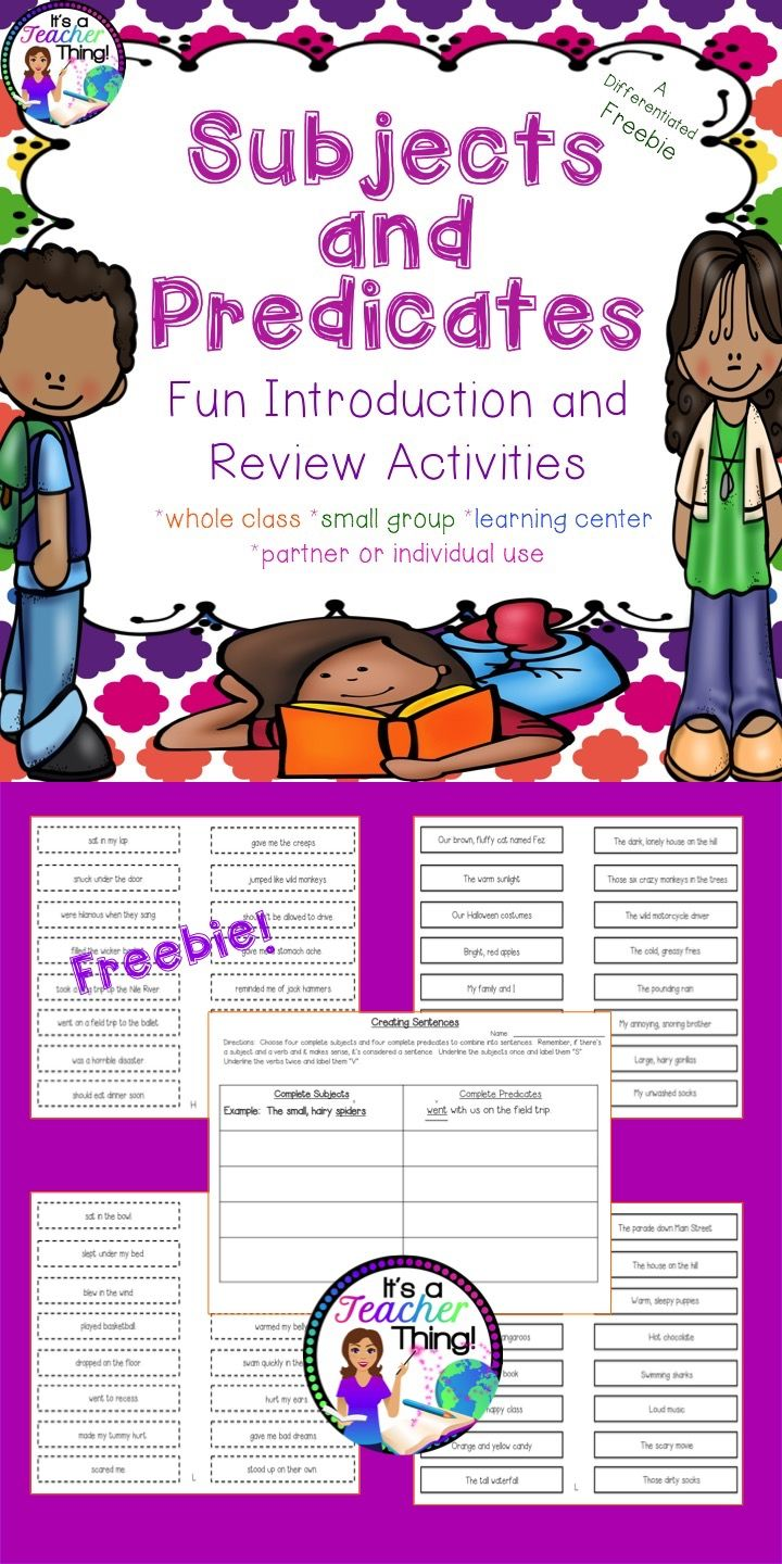 Top 25 best subject and predicate worksheets ideas on pinterest freebie who said grammar cant be fun use the subject robcynllc Image collections