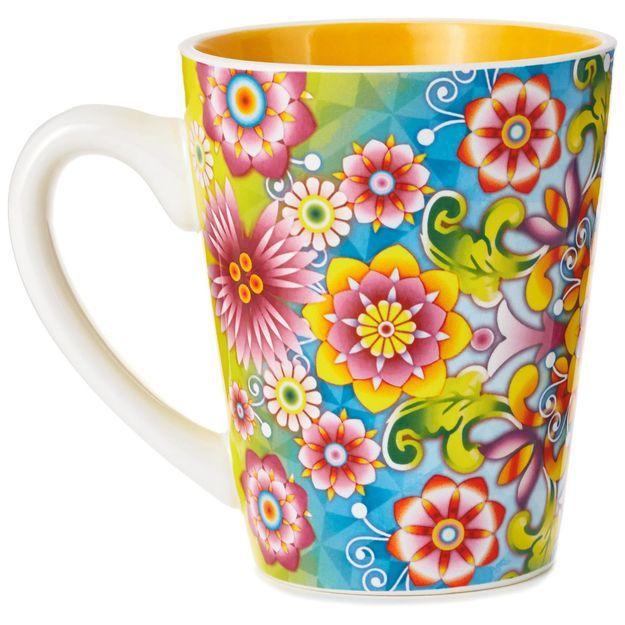 Catalina Estrada Flourishing Blooms Mug, 11 oz