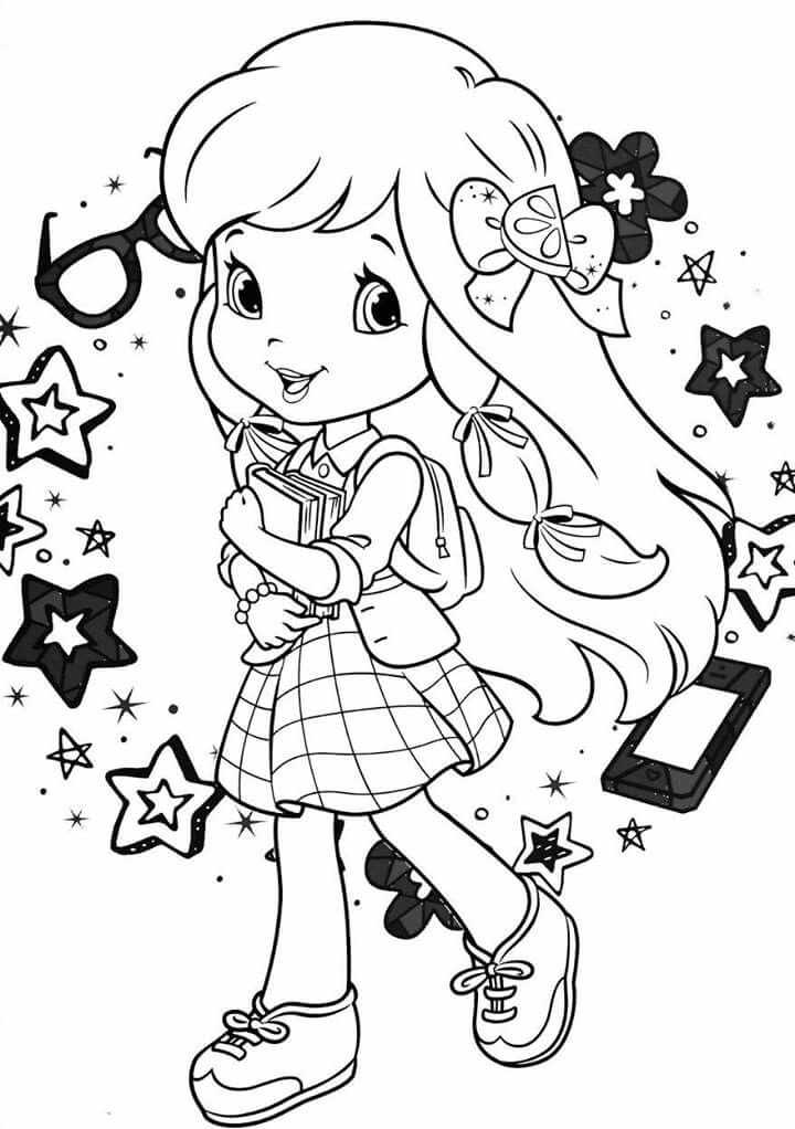 strawberry shortcake coloring pages free - photo#31